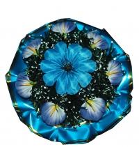 Клумба v014 голубая