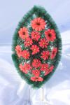 Венок v08 ромашка красная