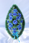 Венок v013 голубой