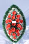 Венок v010 красная калла