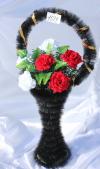 Корзина с розами v41, цвет: красный-белый