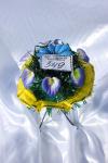 Клумба v014 желто-голубая