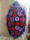 Венок роза бархат + хризантема