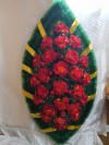 Венок розы красно - оранжевые