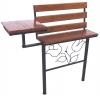 Скамейка со столешницей удлиненная